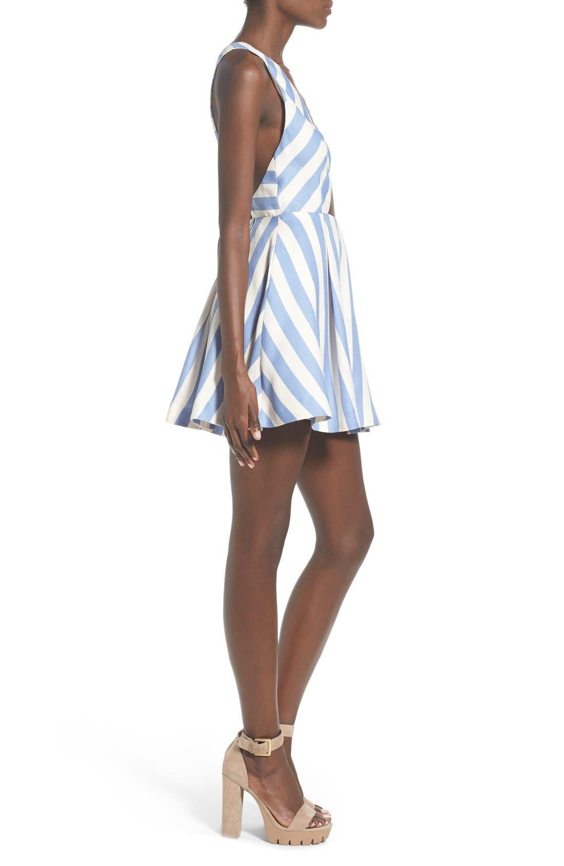 Alternate Image 3  - Lovers + Friends 'Honor' Stripe Fit & Flare Dress