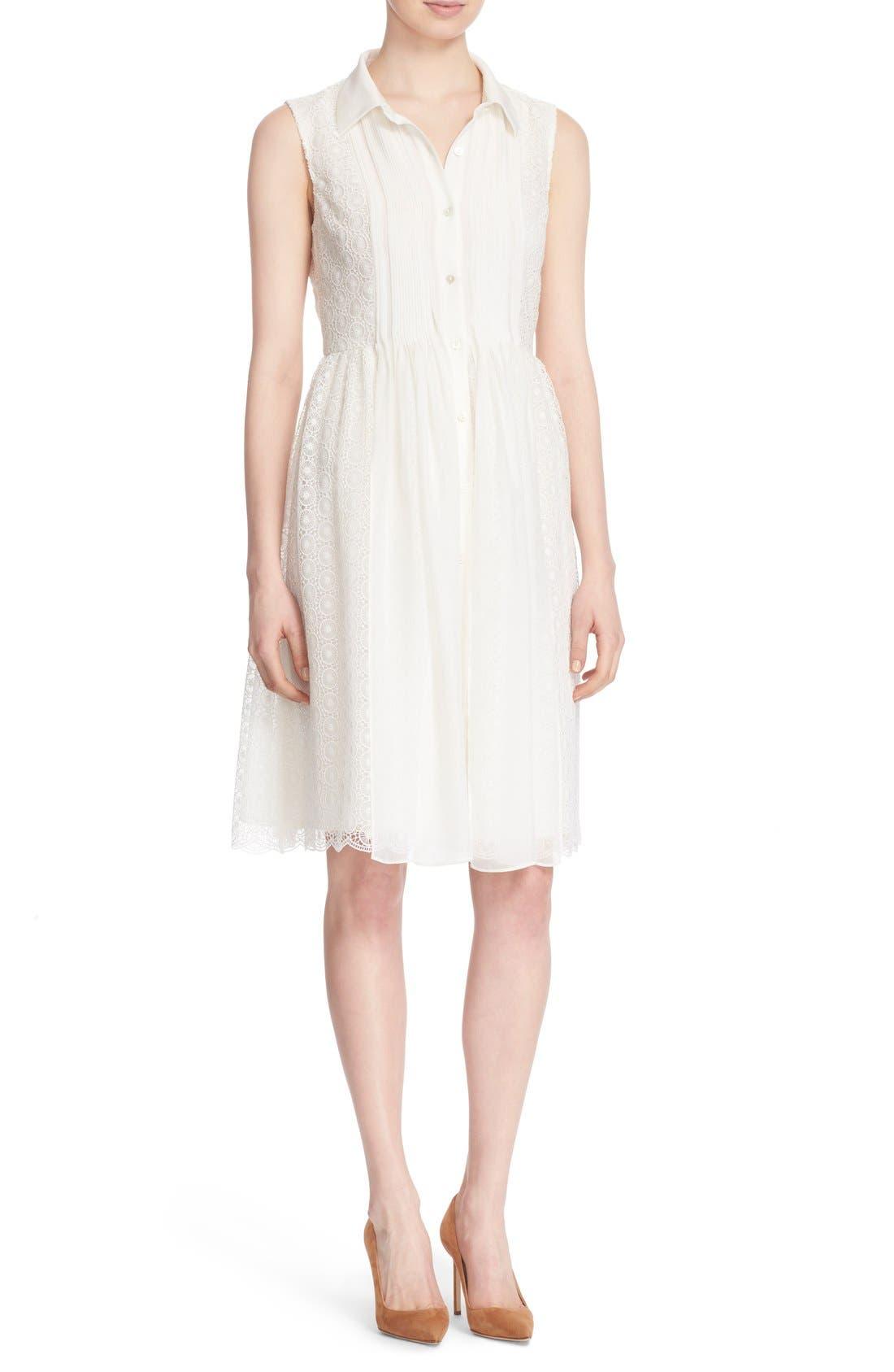 Alternate Image 1 Selected - Diane von Furstenberg 'Nieves' Sleeveless Lace Shirtdress