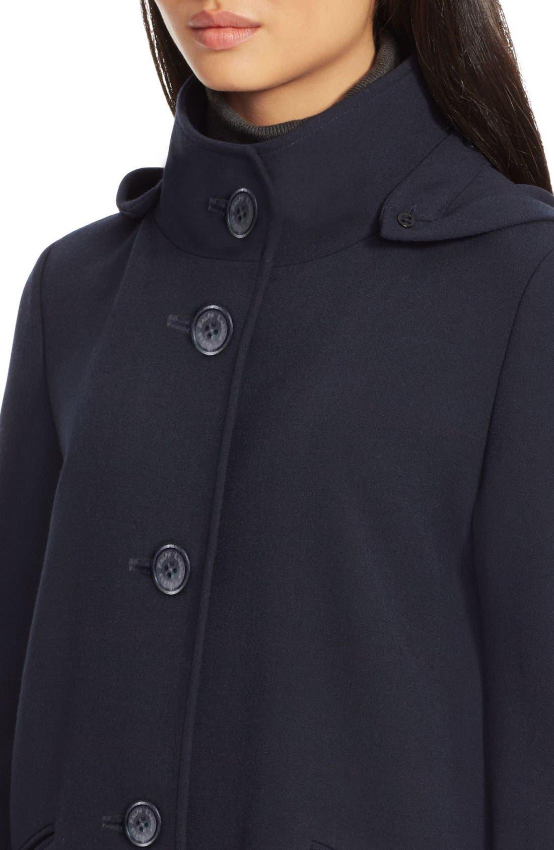Alternate Image 3  - Lauren Ralph Lauren Crepe A-Line Coat