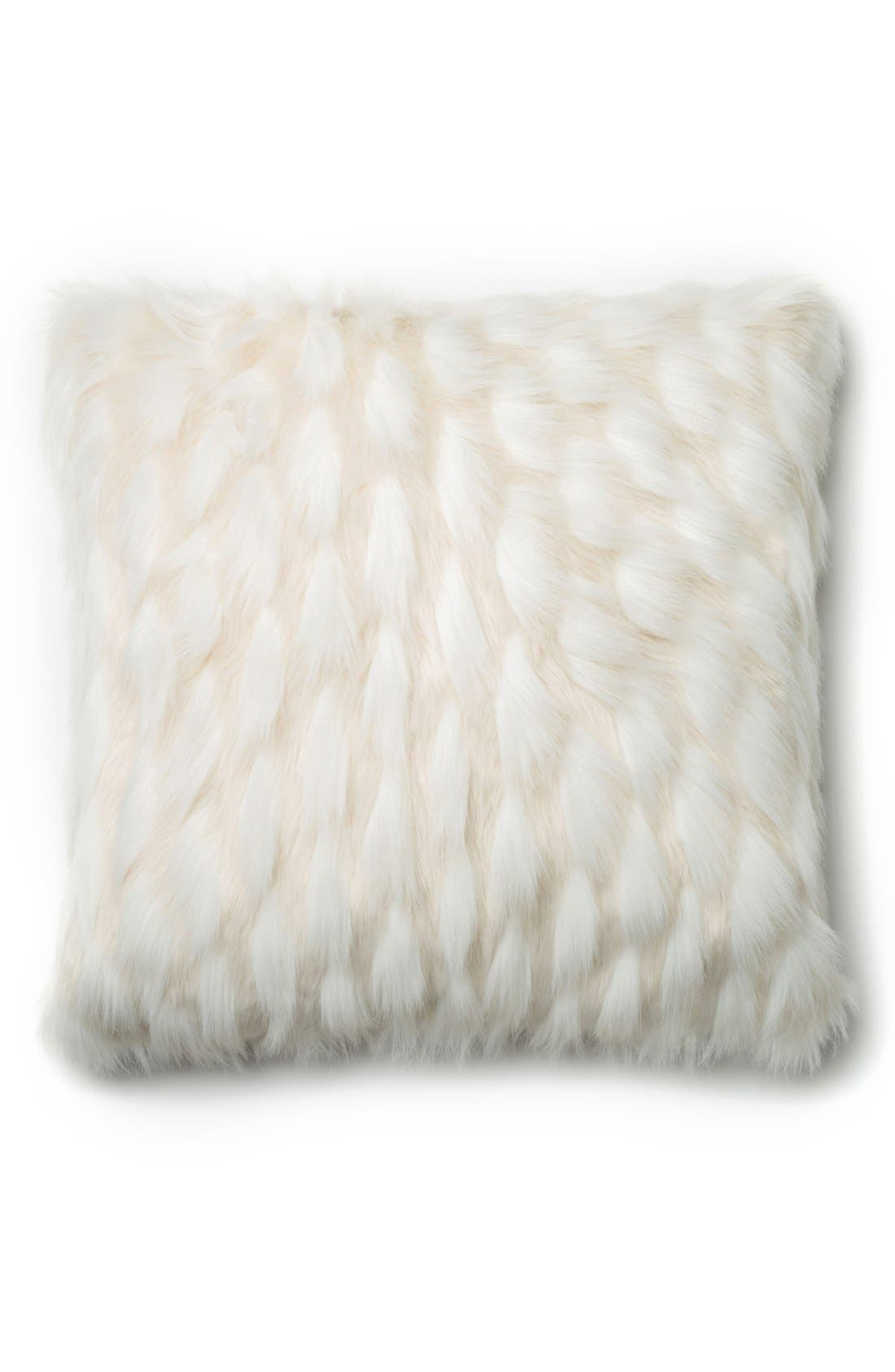 Alternate Image 1 Selected - Loloi Sculpted Faux Fur Pillow