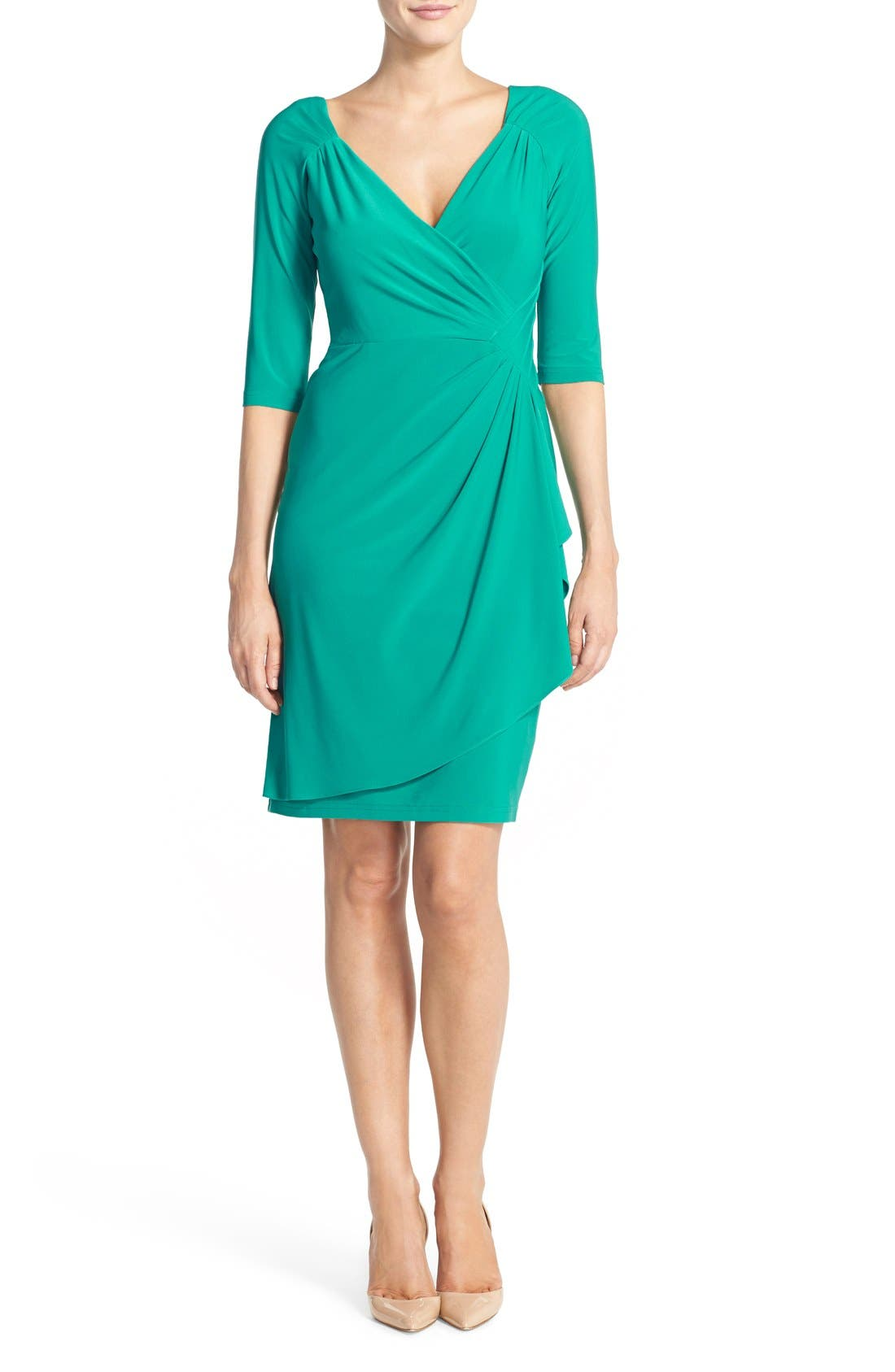 Alternate Image 4  - Adrianna Papell Jersey Faux Wrap Dress