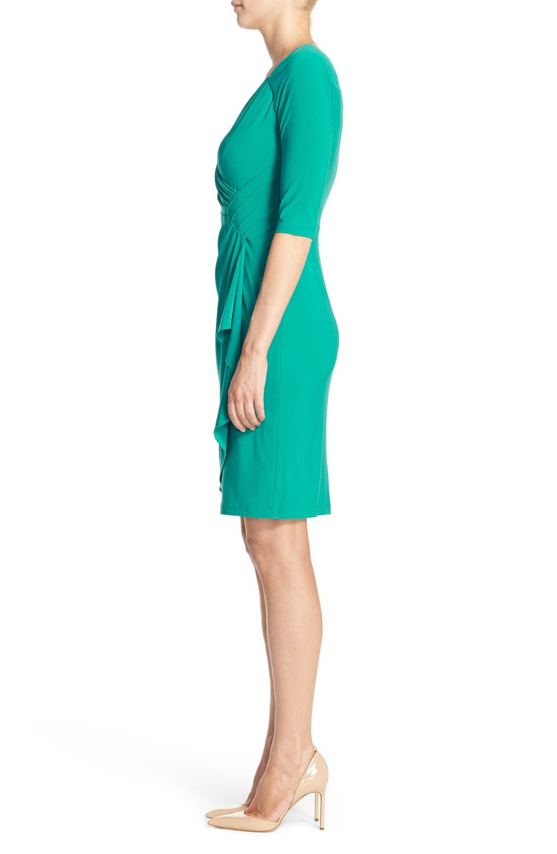 Alternate Image 3  - Adrianna Papell Jersey Faux Wrap Dress