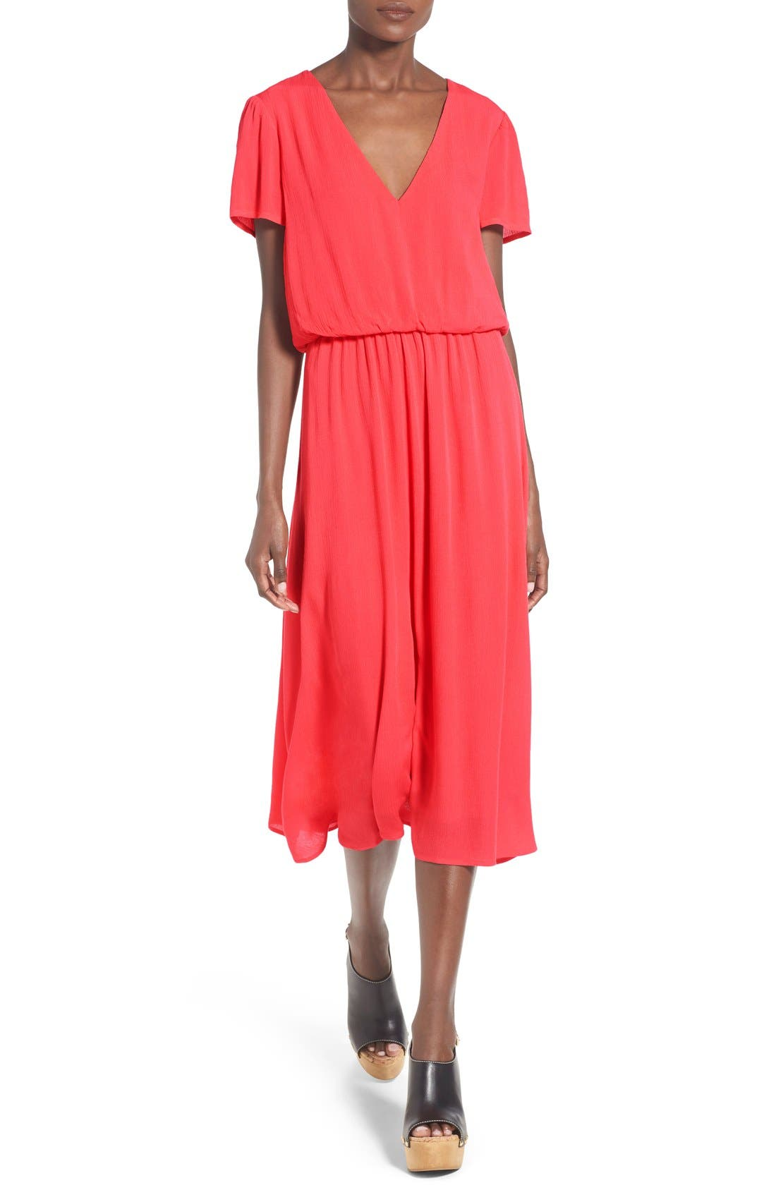Alternate Image 1 Selected - WAYF Blouson Midi Dress