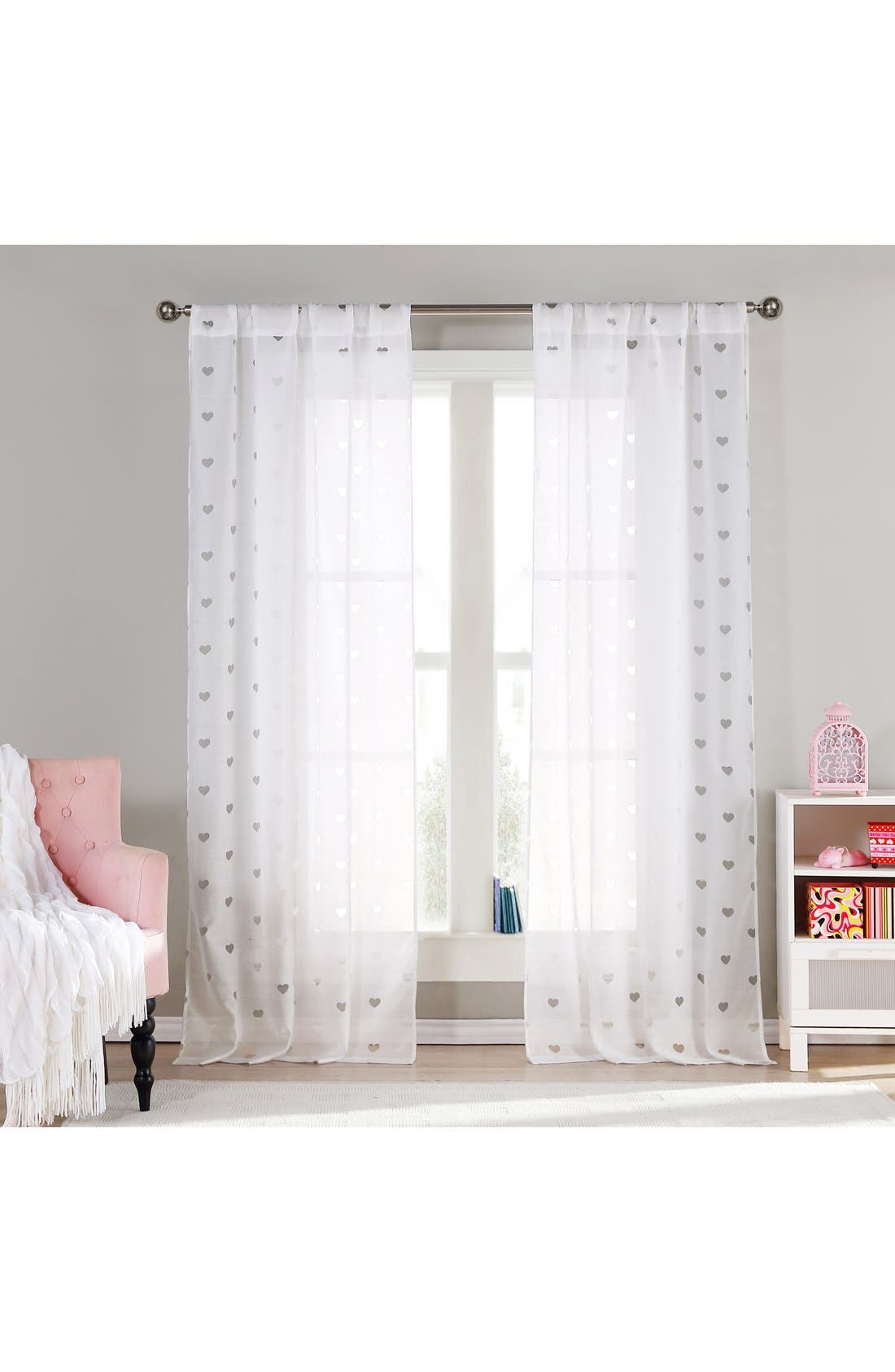 LALA + BASH 'Kelly' Sheer Heart Window Panels