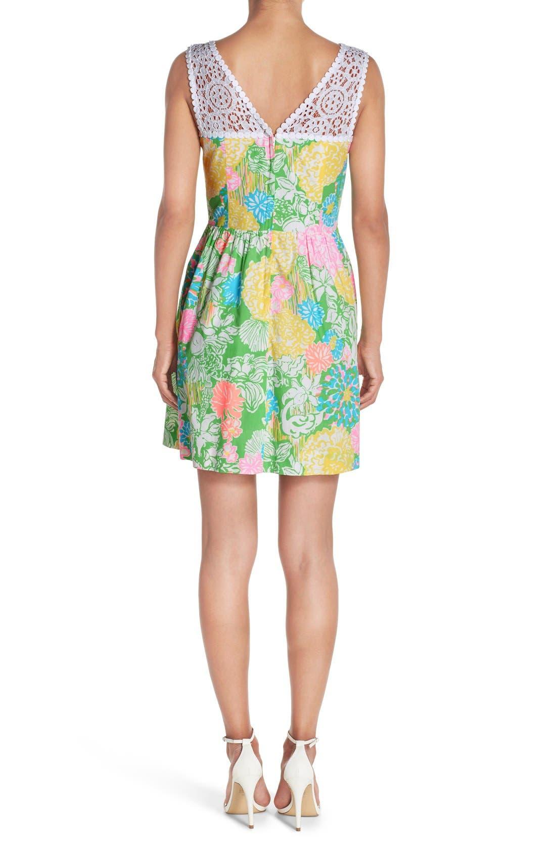 Alternate Image 2  - Lilly Pulitzer® 'Raegan' Cotton Fit & Flare Dress