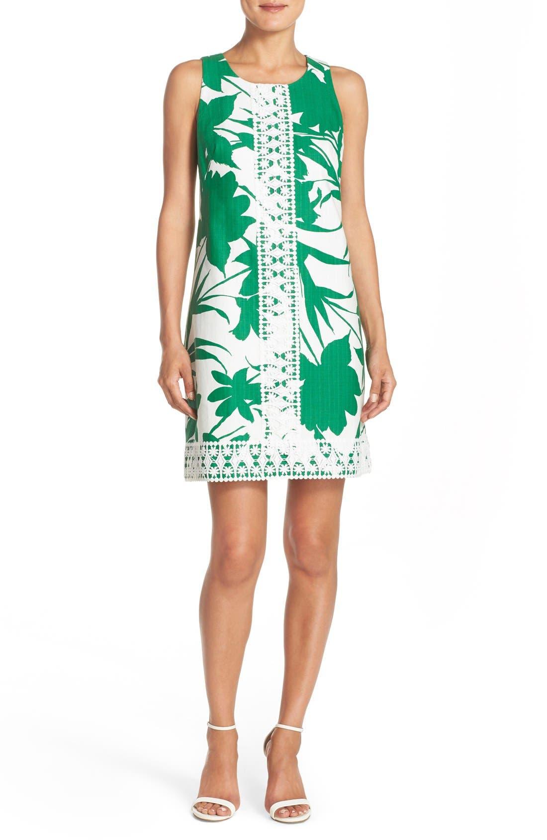 Alternate Image 4  - Eliza J Print Woven Shift Dress