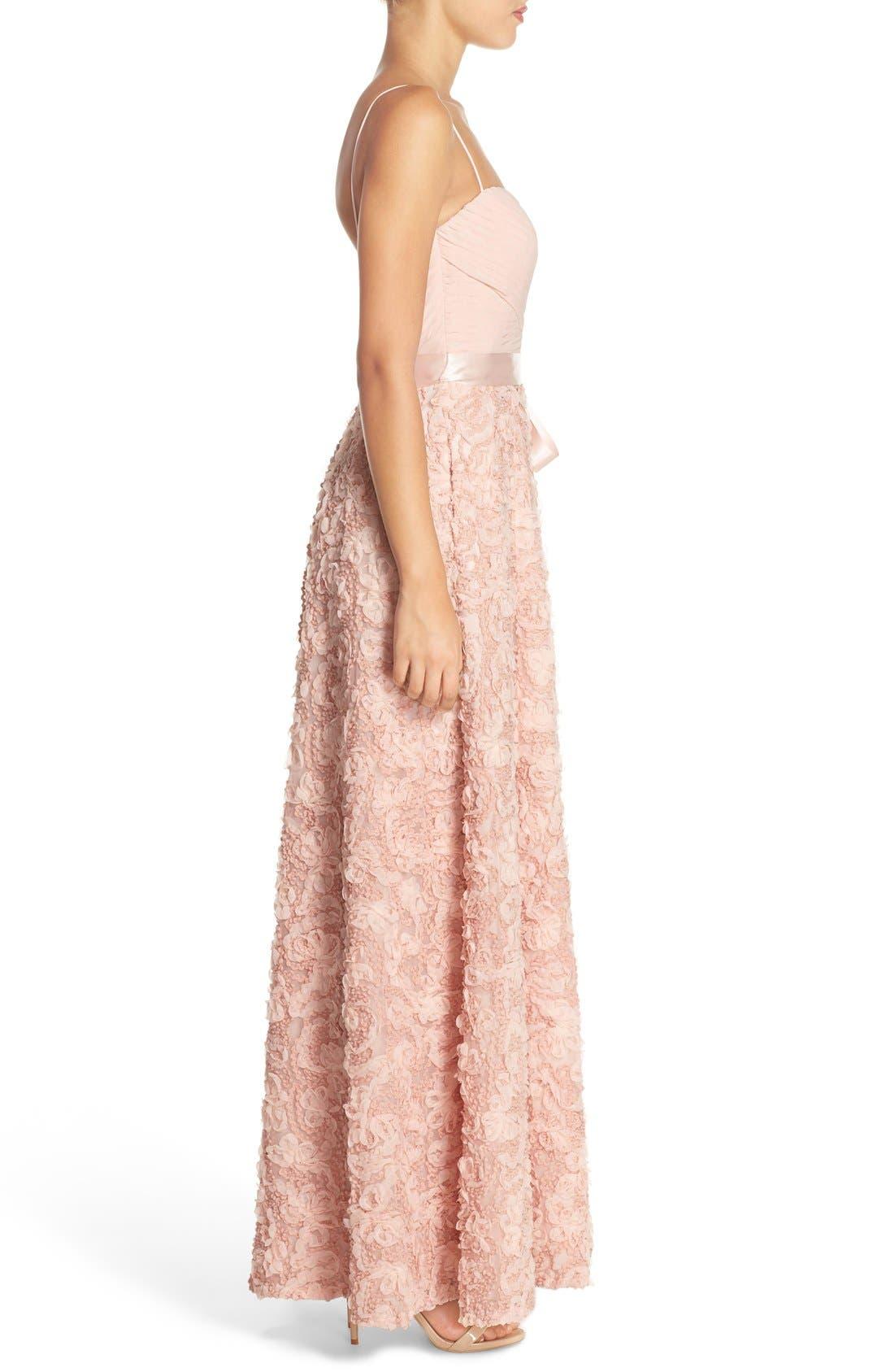 Alternate Image 3  - Aidan by Aidan Mattox Pleat & Rosette Chiffon Gown