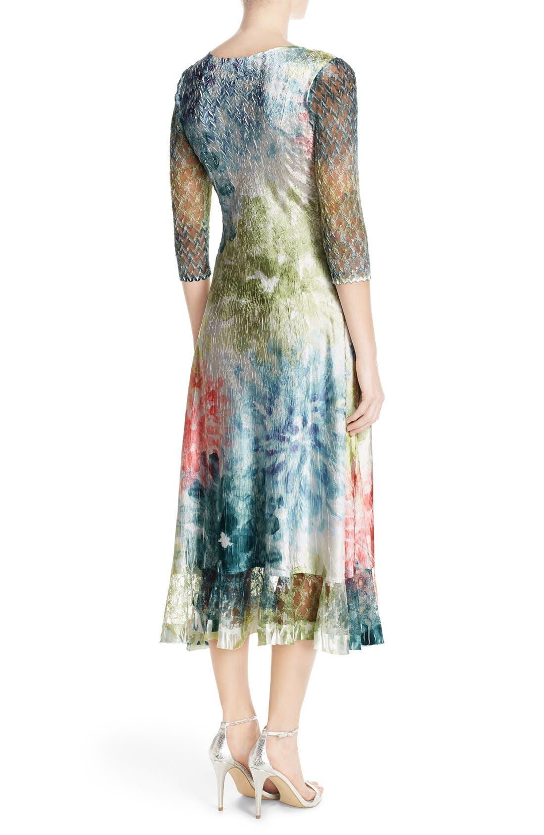 Alternate Image 2  - Komarov Mixed Media A-Line Dress (Regular & Petite)