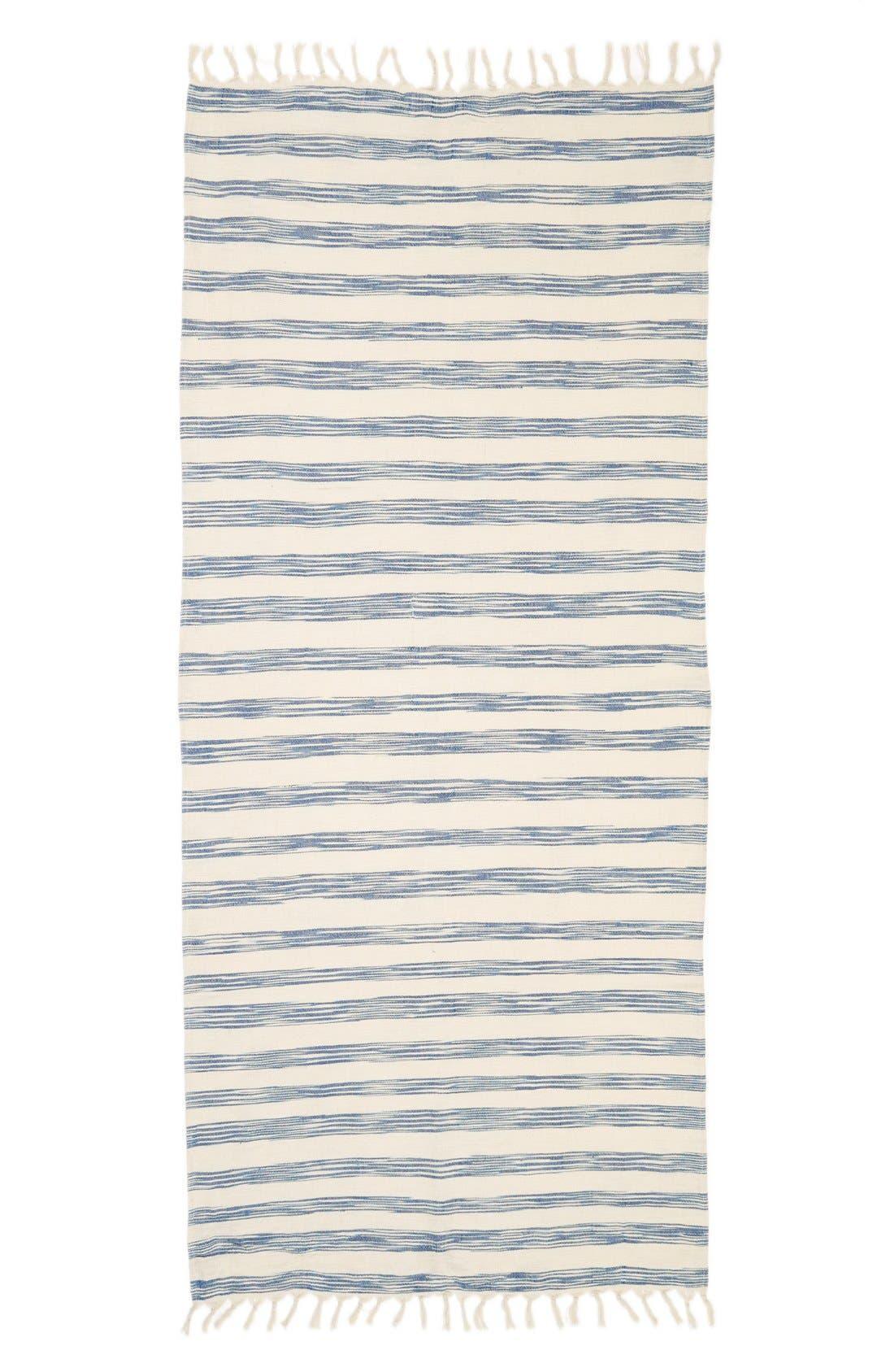 Alternate Image 2  - Sole Society Stripe Fringed Cotton Scarf