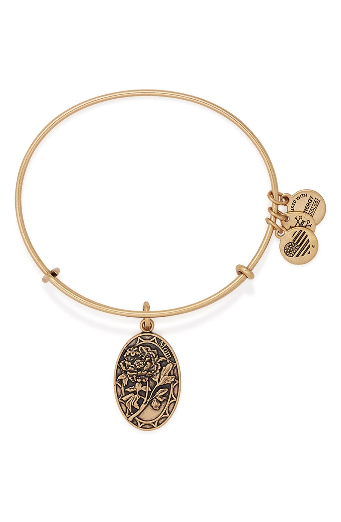 Alternate Image 1 Selected - Alex and Ani 'I Love You Mom' Expandable Wire Bangle