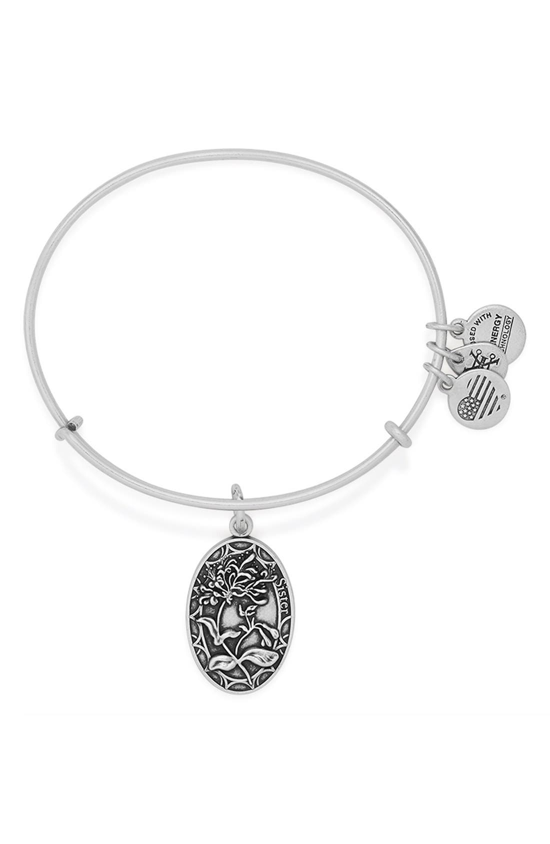 Alternate Image 1 Selected - Alex and Ani 'I Love You Sister' Expandable Wire Bangle