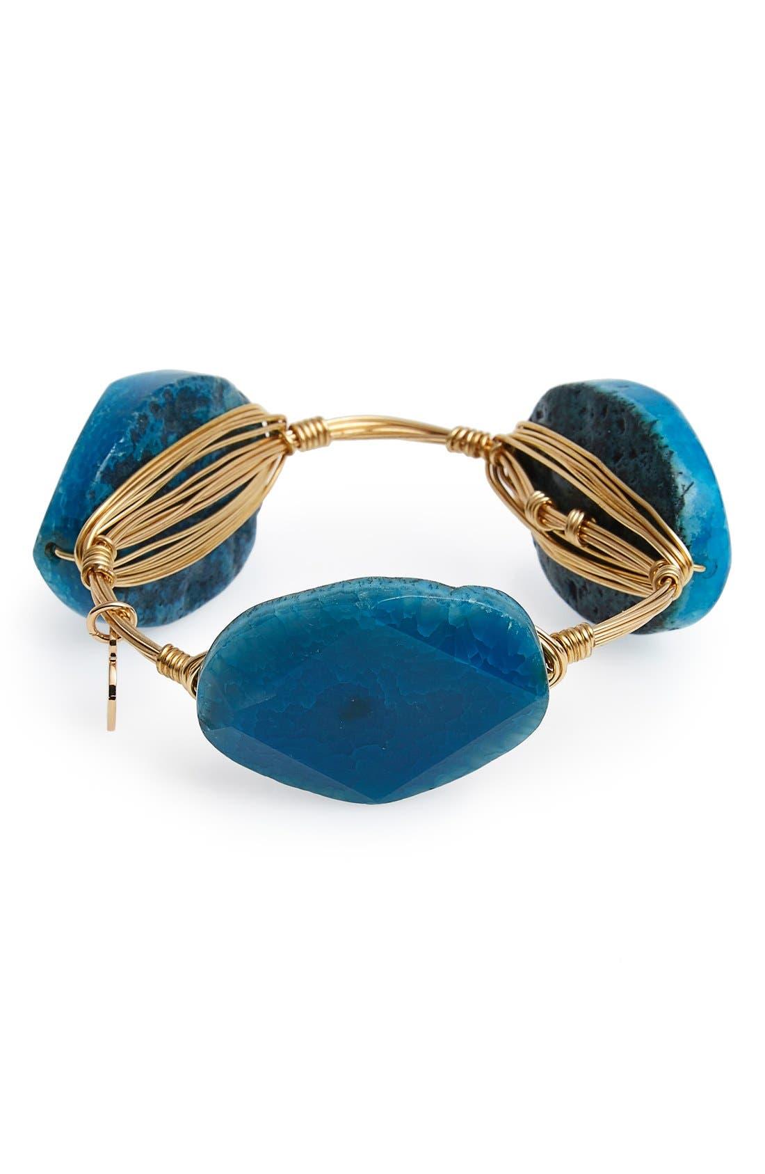 Alternate Image 2  - Bourbon and Boweties Dyed Agate Bracelet