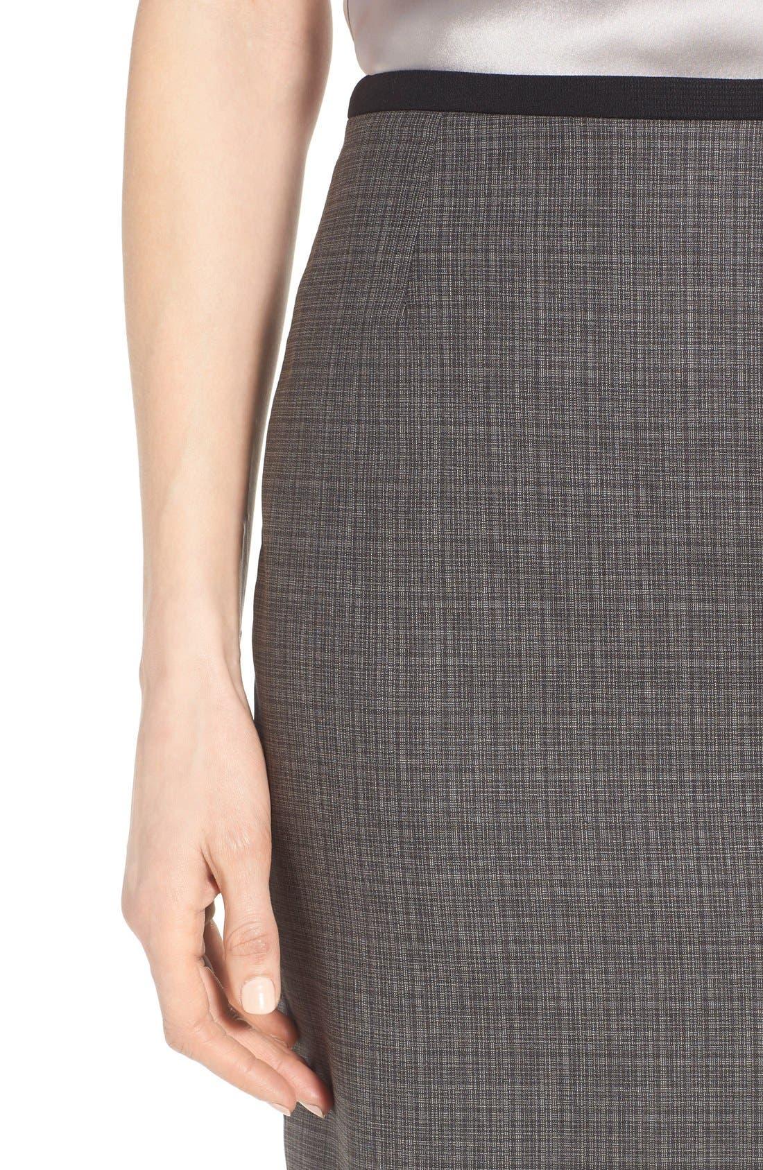 Alternate Image 5  - BOSS 'Vanya' Check Stretch Wool Suit Skirt
