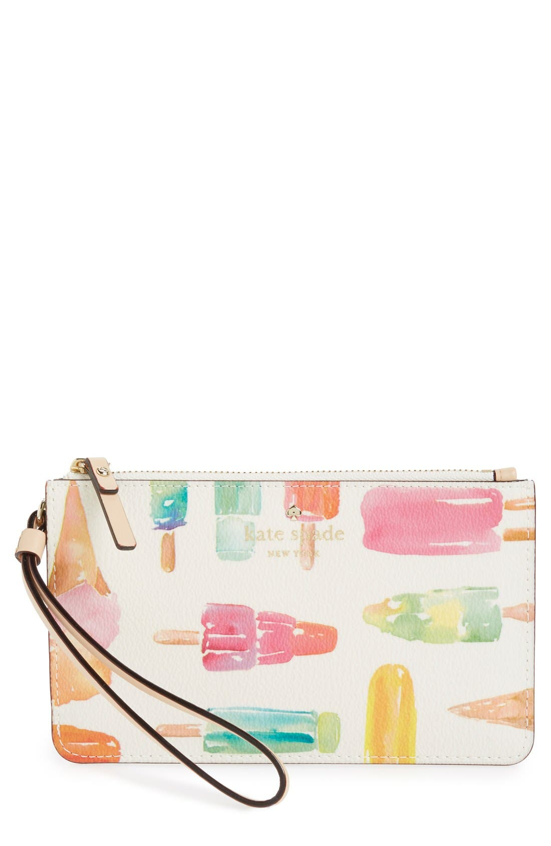 Main Image - kate spade new york 'cedar street - slim bee' ice pop print wristlet