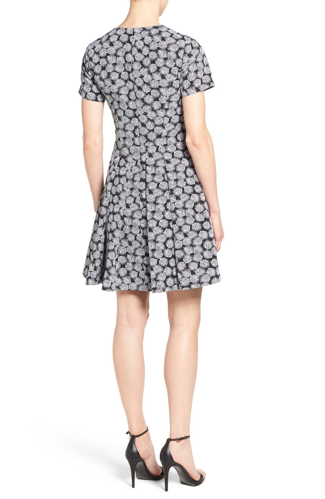 Alternate Image 2  - MICHAEL Michael Kors 'Alicante' V-Neck Fit & Flare Dress