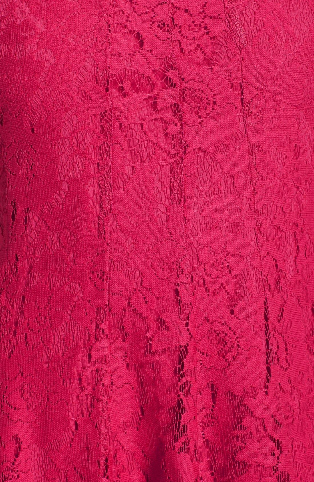 Alternate Image 6  - Gabby Skye Keyhole Neck Lace Fit & Flare Dress