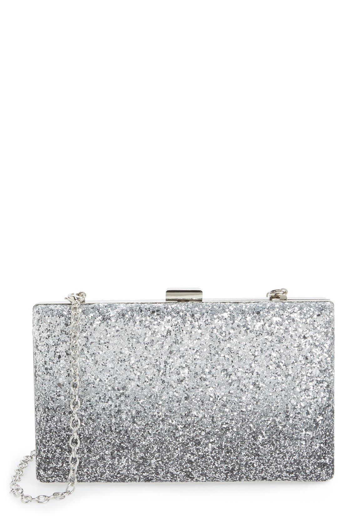Alternate Image 1 Selected - Sondra Roberts Ombré Glitter Clutch