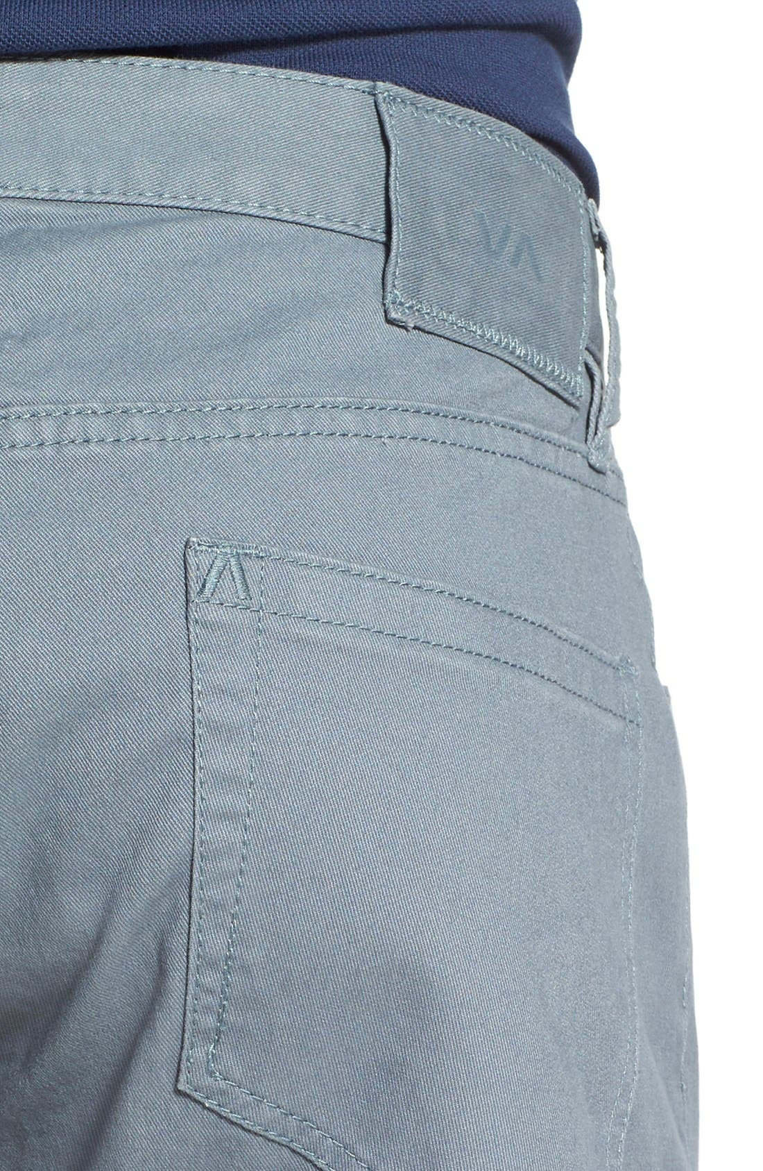 Alternate Image 4  - RVCA 'Stay RVCA' Slim Straight Pants (Online Only)
