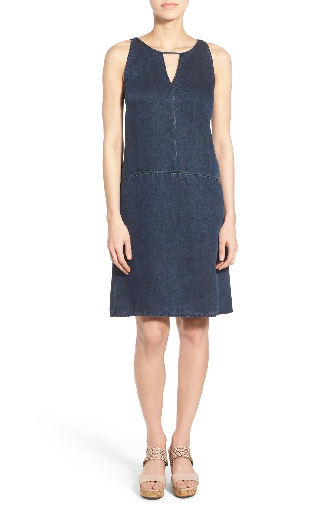 Alternate Image 1 Selected - NIC+ZOE A-Line Denim Shift Dress (Regular & Petite)