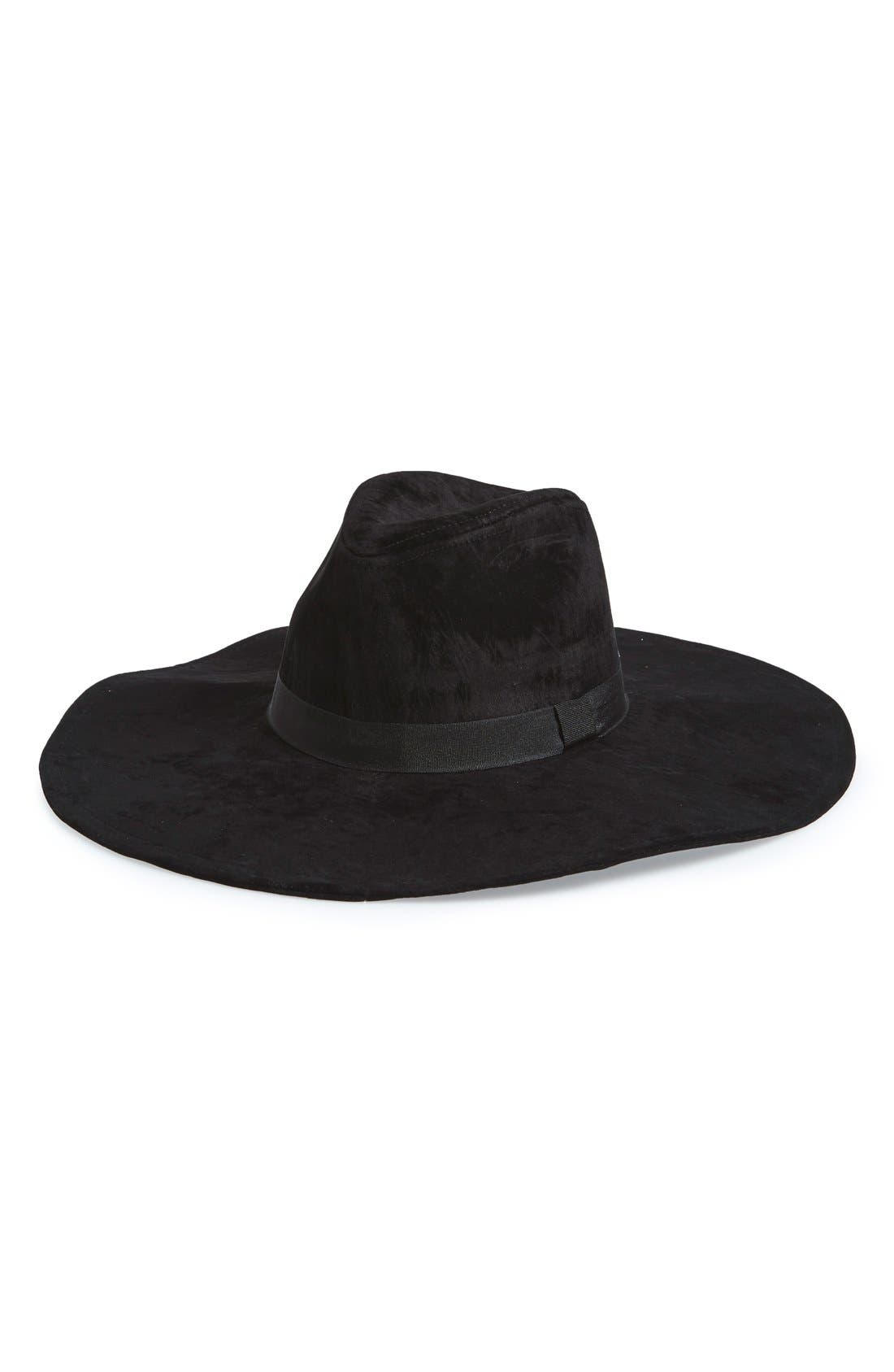 Alternate Image 1 Selected - Amici Accessories Floppy Faux Suede Fedora