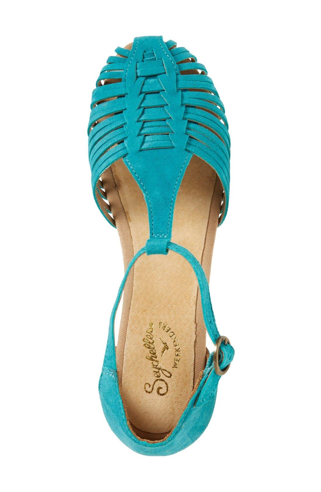 Alternate Image 3  - Seychelles 'Into Thin Air' Leather Huarache Flat Sandal (Women)
