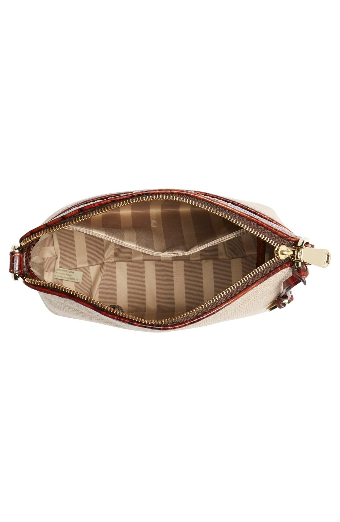 Alternate Image 4  - Brahmin 'Mini Duxbury' Woven Crossbody Bag