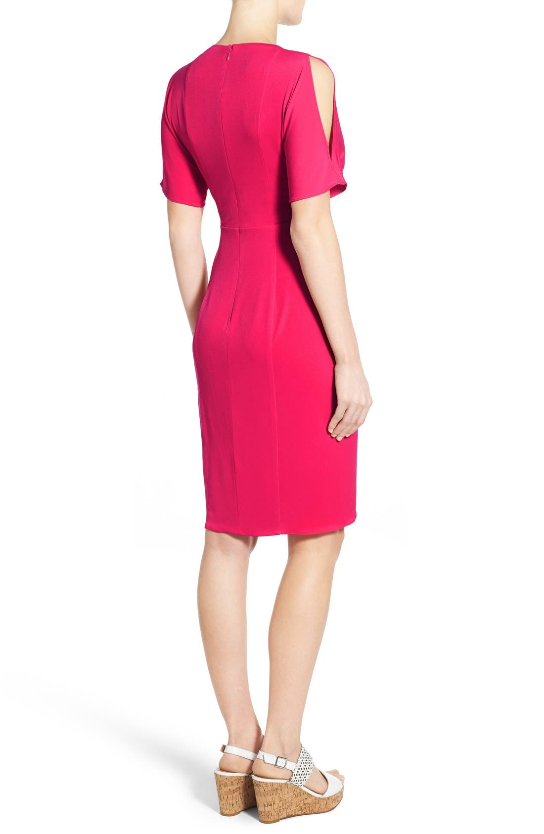 Alternate Image 2  - Catherine Catherine Malandrino 'Emily' Cold Shoulder Twist Front Dress