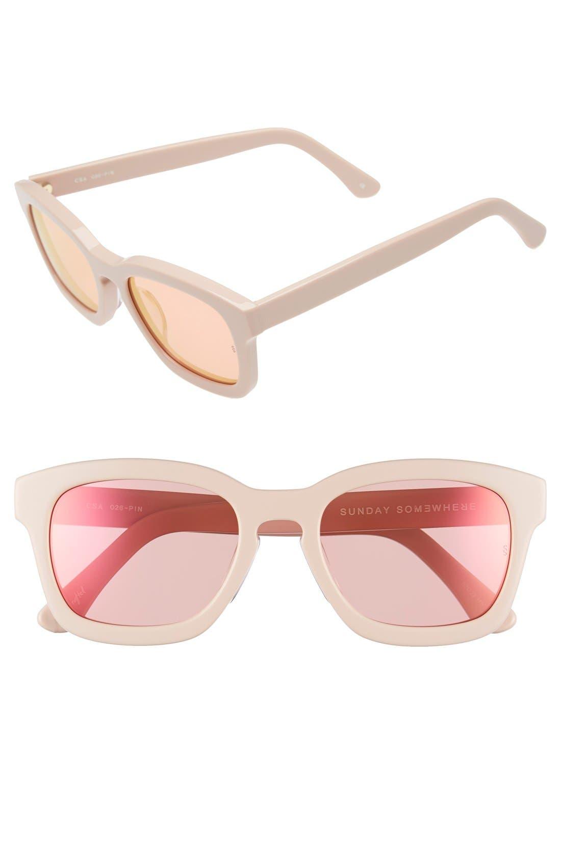 SUNDAY SOMEWHERE 'CSA' 52mm Retro Sunglasses