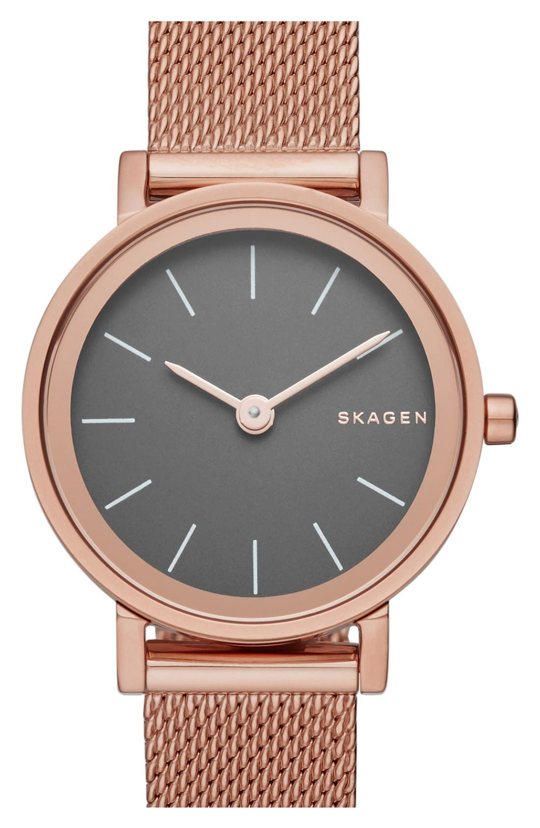 Alternate Image 1 Selected - Skagen 'Hald' Mesh Strap Watch, 26mm