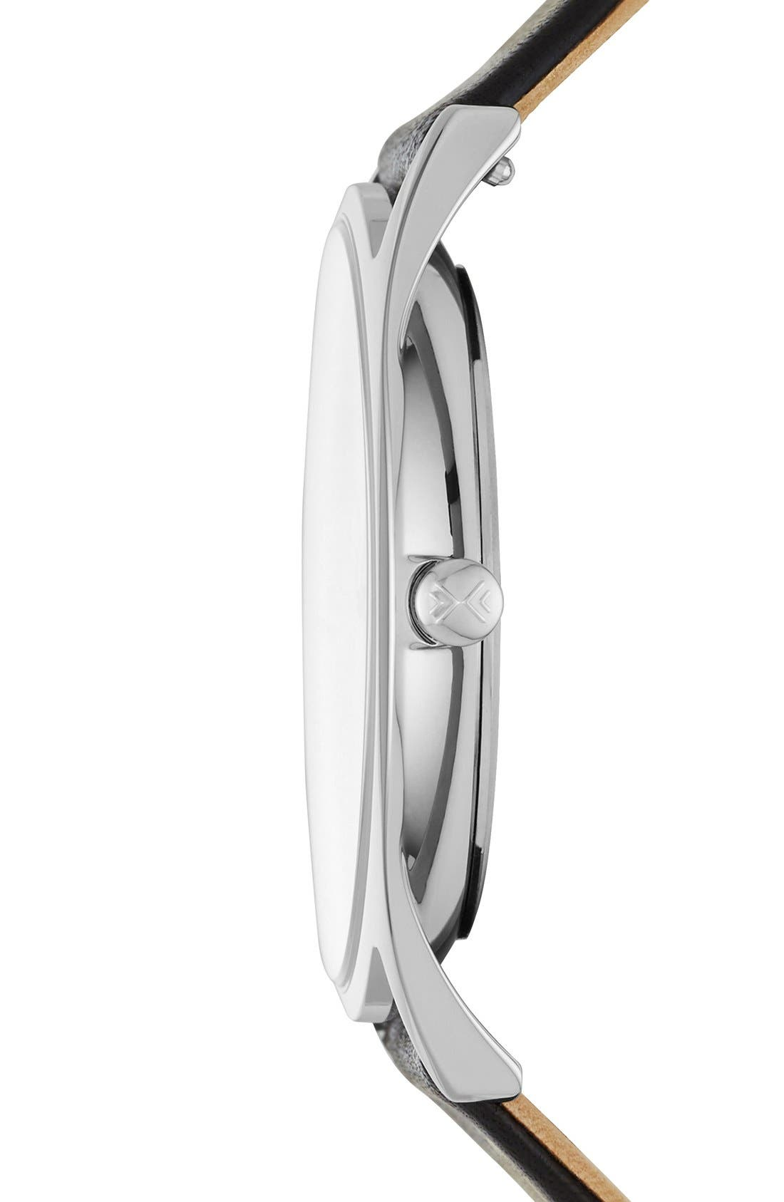 Alternate Image 2  - Skagen 'Holst' Leather Strap Watch, 40mm