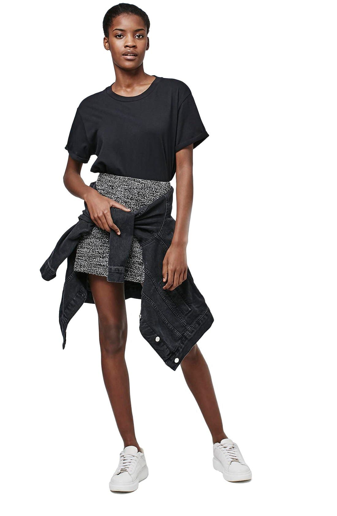 Alternate Image 2  - Topshop A-Line Bouclé Skirt (Petite)
