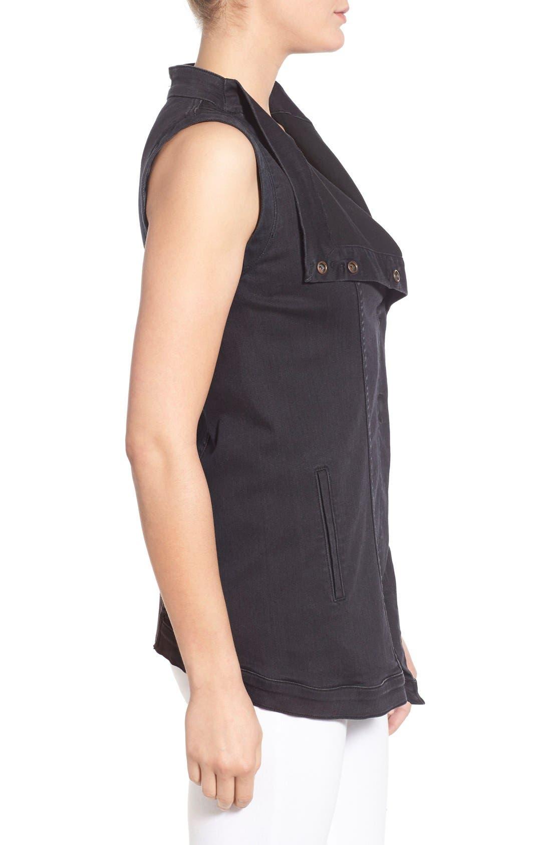 Alternate Image 3  - Fine by Superfine 'Grace' Drape Front Denim Vest