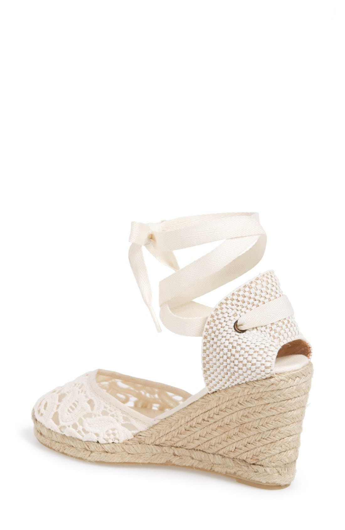 Alternate Image 2  - Soludos Lace Wedge Espadrille Sandal (Women)