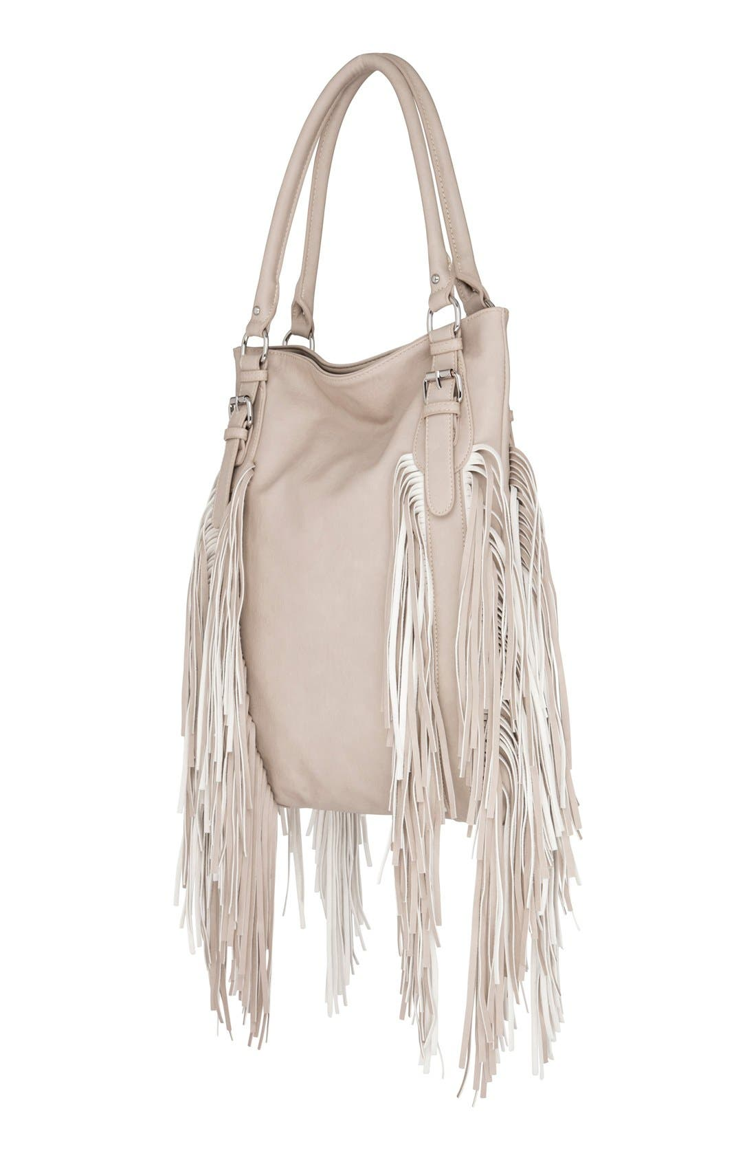 Alternate Image 2  - Urban Originals 'Crazyheart' Fringe Faux Leather Tote
