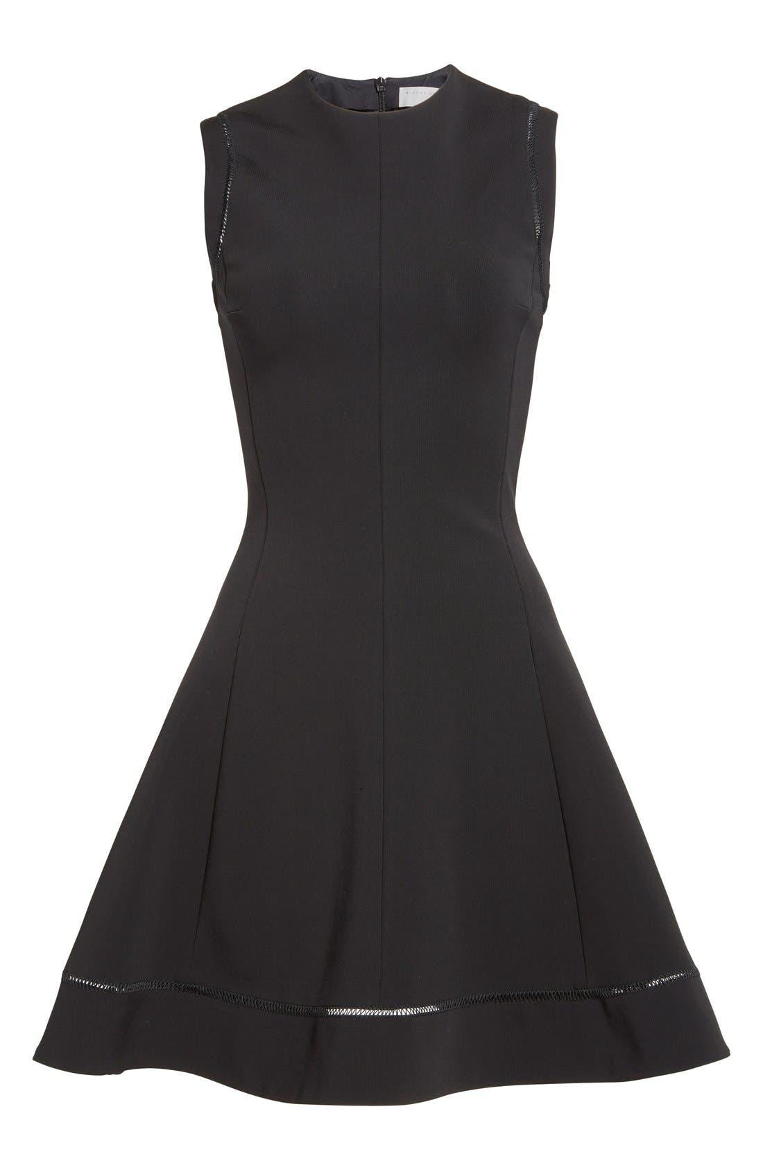Alternate Image 4  - Victoria Beckham Rib Knit Fit & Flare Dress