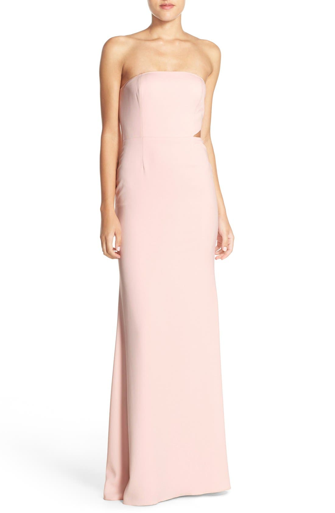Alternate Image 1 Selected - Jay Godfrey Strapless Cutout Gown