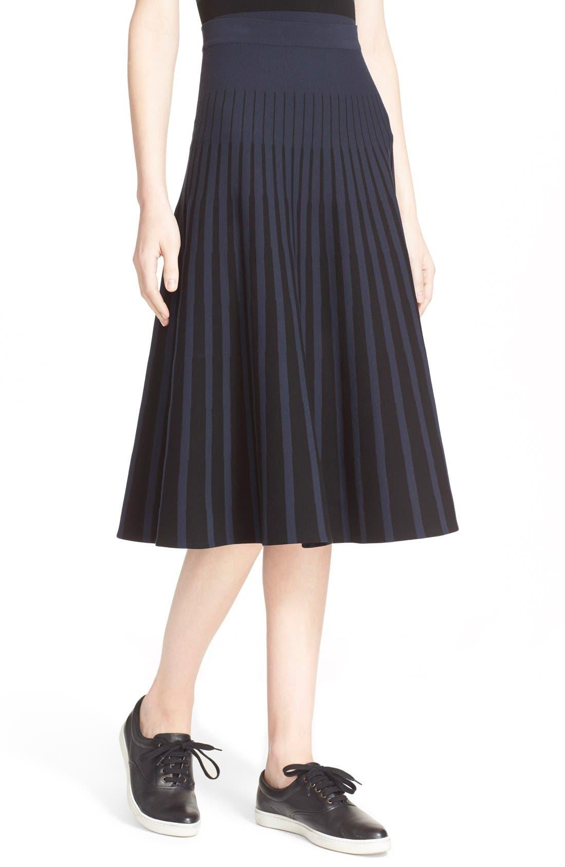 Alternate Image 6  - Tomas Maier Stripe Knit Flared Skirt