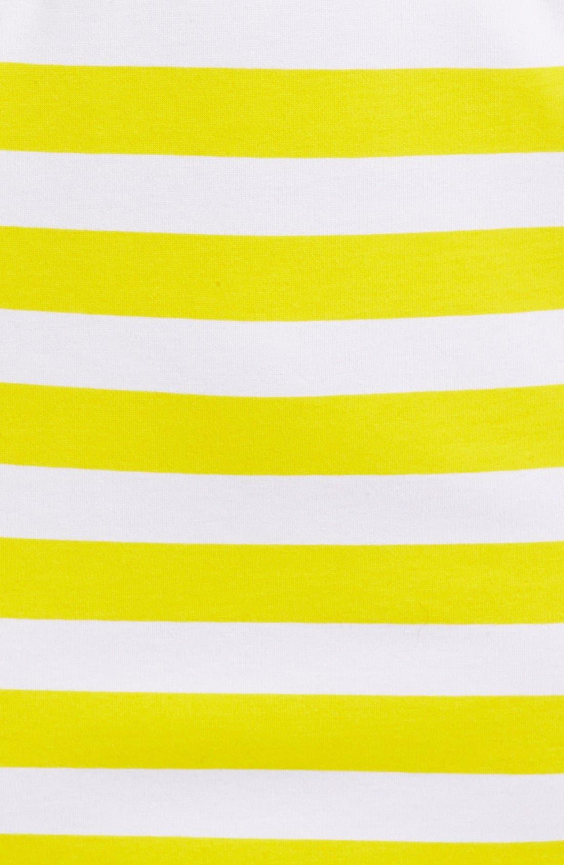 Alternate Image 5  - Amour Vert 'Amber' Stripe Cutout Body-Con Dress