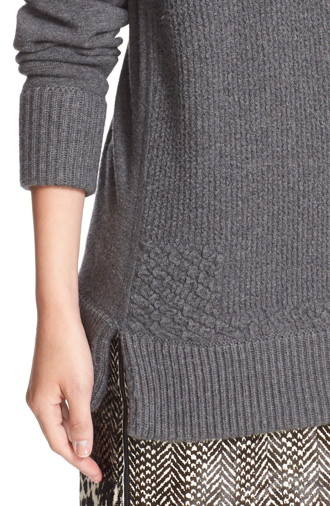 Alternate Image 5  - Jason Wu Cashmere & Wool Blend Textured Sweater