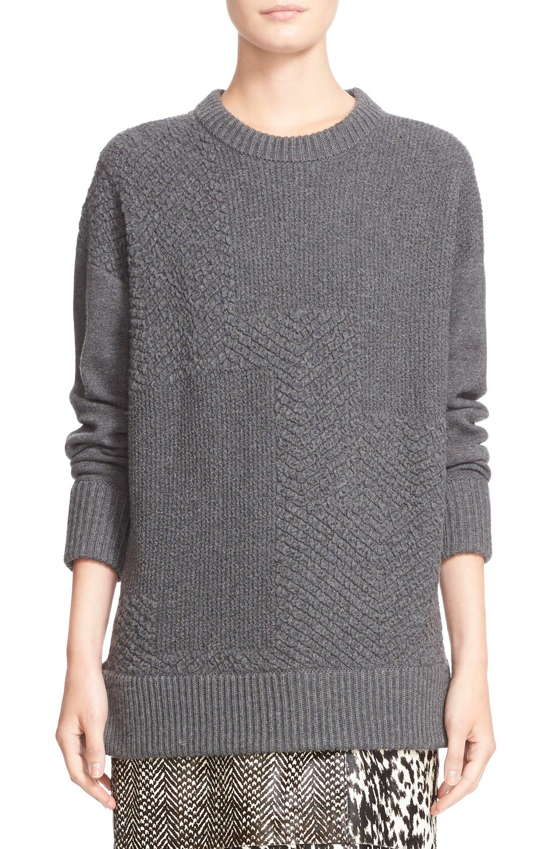 Alternate Image 1 Selected - Jason Wu Cashmere & Wool Blend Textured Sweater