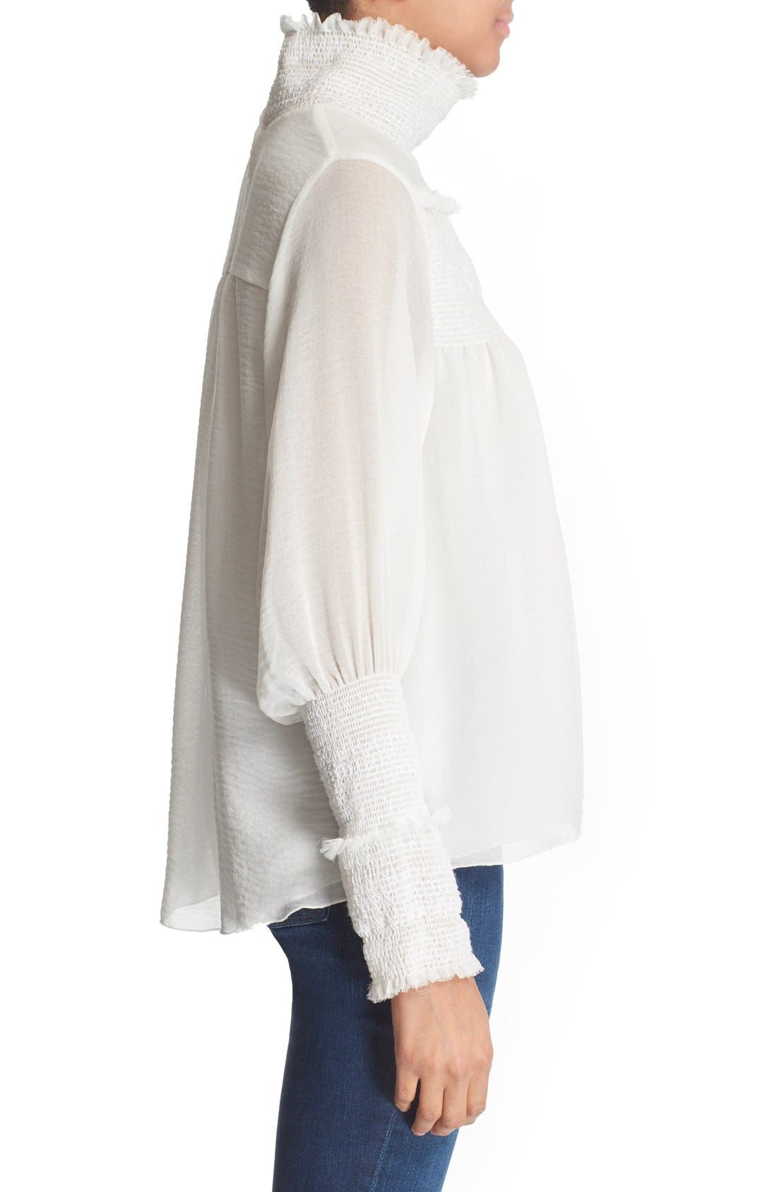 Alternate Image 3  - See by Chloé Smocked High Neck Blouse
