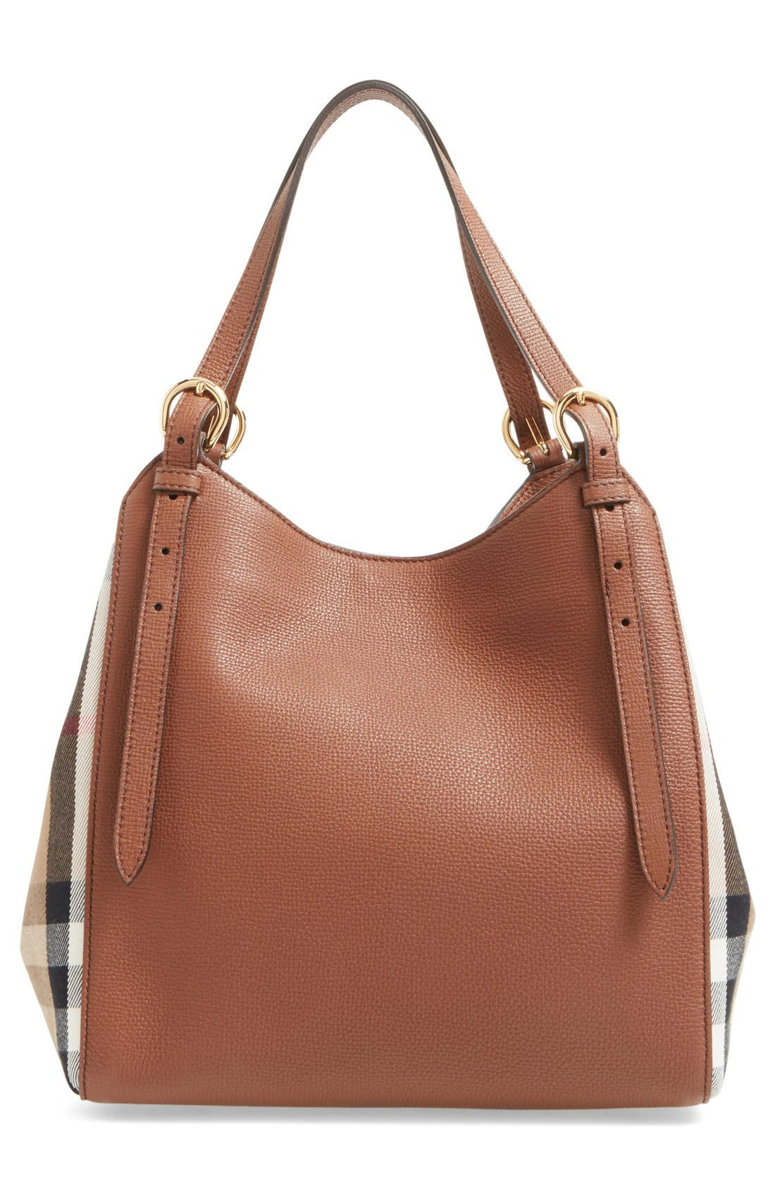 Alternate Image 3  - Burberry 'Canterbury' House Check & Leather Tote