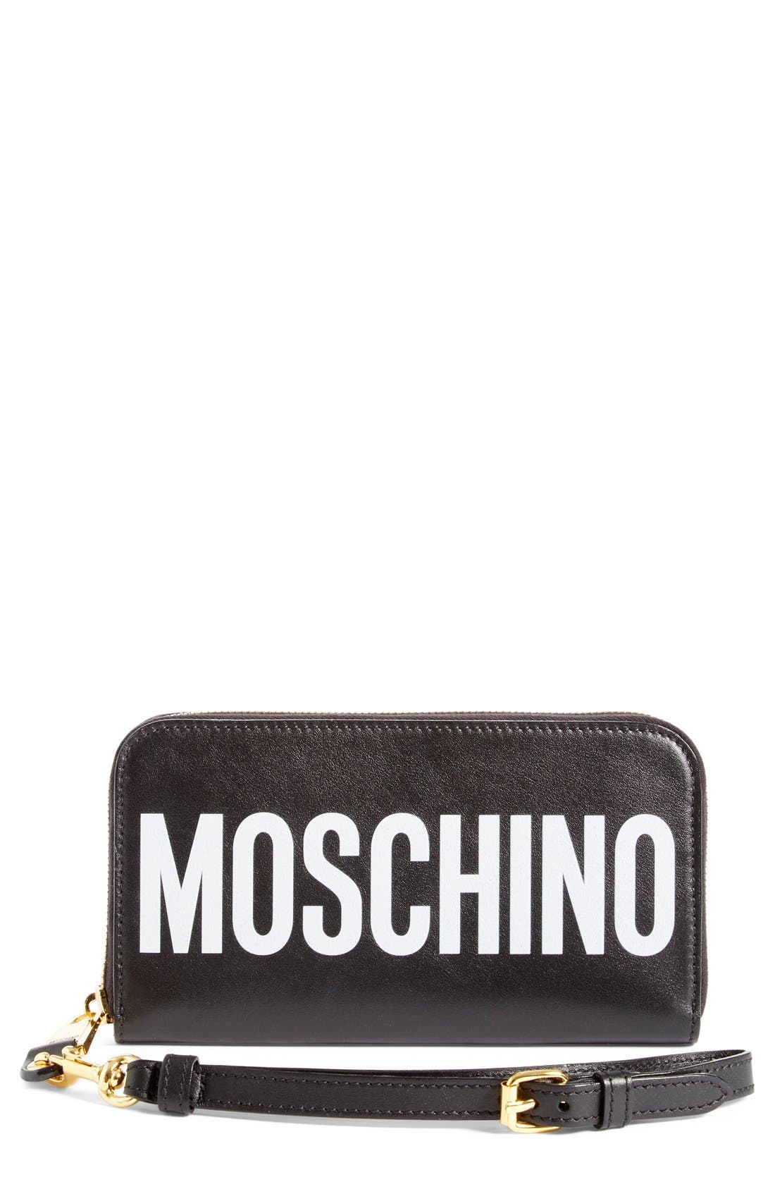 Alternate Image 1 Selected - Moschino Logo Wallet
