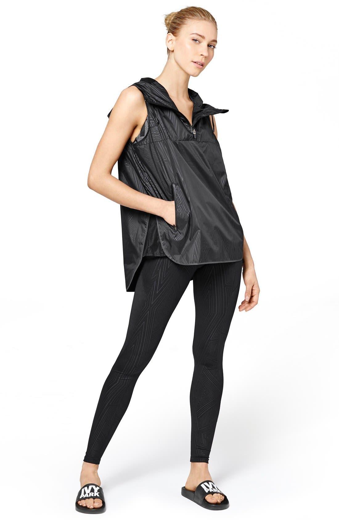 Alternate Image 2  - IVY PARK® Reflective Print Hooded Sleeveless Jacket
