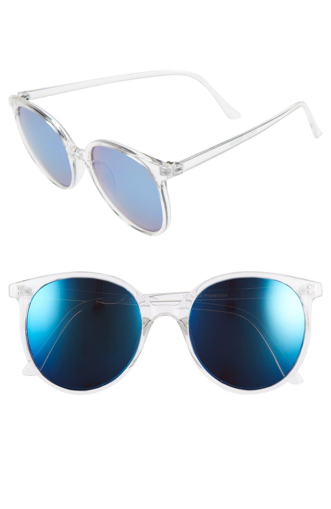Main Image - BP. Mirrored Round Sunglasses