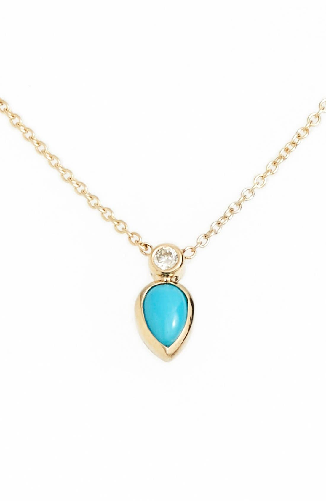 Zoë Chicco Turquoise Pendant Necklace