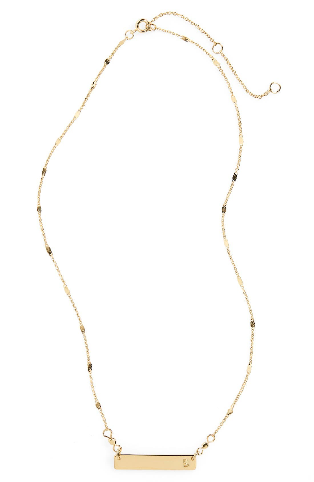 Alternate Image 1 Selected - Stephan & Co. Initial Bar Necklace
