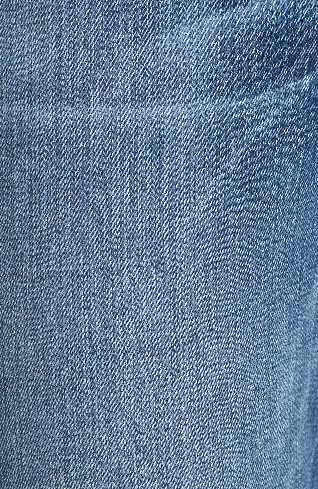 Alternate Image 6  - FRAME 'Le High Straight' High Rise Staggered Hem Jeans (Carroll) (Nordstrom Exclusive)