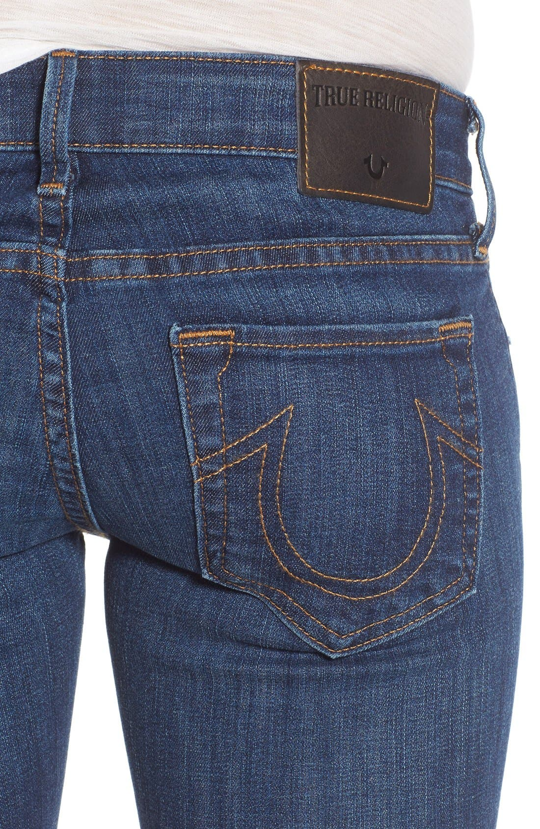 Alternate Image 4  - True Religion Brand Jeans 'Karlie' Bell Bottom Jeans (Worn Vintage)