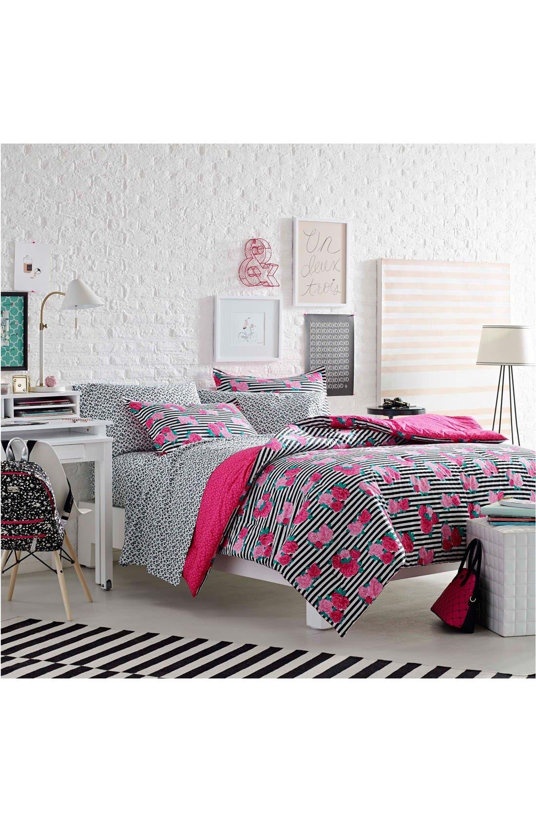 Alternate Image 2  - Betsey Johnson Bedding Royal Roses Comforter & Sham Set